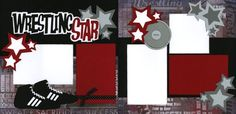 wrestling scrapbooking ideas   Wrestling Moms: Wrestling Scrapbook Page by Out On A Limb: