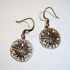 Shoply.com -Sand Dollar Antique Gold Earrings. Only C$4.95