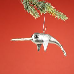 It's a Narwhal Ornament in Silver by RachelOs Christmas Decorations, Christmas Ornaments, Holiday Decor, Christmas Ideas, Merry Christmas, Xmas, Statues, Super Cool Stuff, Silver Ornaments
