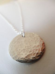 Simple silver necklace £30.95 #hammeredsilver #sterlingsilver #silverzoo