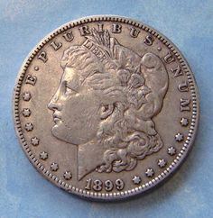 1899-S Morgan Silver Dollar Semi Key Date US Coin on Etsy, $60.00