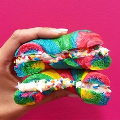 By this point you've all seen these unicorn rainbow bagels from The Bagel Store in Brooklyn, NY, fill your newsfeed. You've sat there at home, plotted your next trip to New York, wondered how long you'd have to wait in line for these beauties, and hoped that they taste as magical as they sound. Right? Well, just in case you're not ready to brave the hordes of customers knocking down their doors, we hacked the recipe and are here to show you how to make these at home!