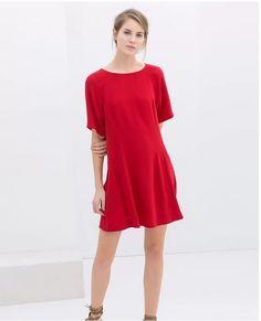 Модное платье с однотонным цветом, цвет-красный, много размеров на выбор, цена указана за 1 шт.