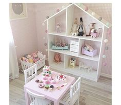 sweet is this play room set-up for a little girl? How sweet is this play room set-up for a little girl?How sweet is this play room set-up for a little girl? Baby Bedroom, Girls Bedroom, Bedroom Ideas, Kids Bedroom Designs, Bedroom Themes, Bedroom Decor, Deco Kids, Toddler Rooms, Toddler Girl