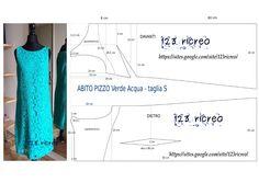 #Abito in Pizzo verde acqua - #pattern 123ricreo