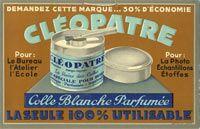 Le pot de colle Cléopatre - Années 80