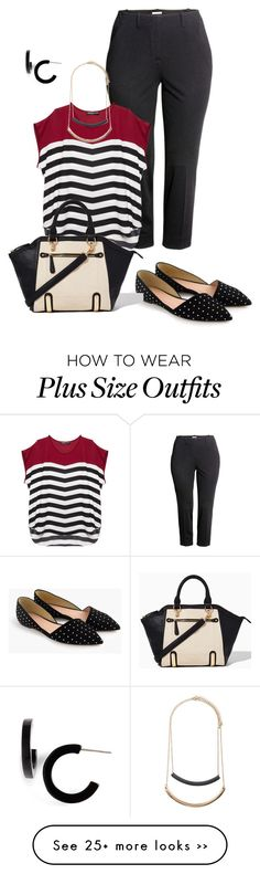 """plus size work look"" by kristie-payne on Polyvore featuring H&M, Wet Seal, J.Crew, Forever 21 and L. Erickson"