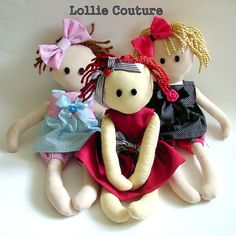 Rag Dolls, handmade Rag Dolls, I'm going to use some of Maddie's baby clothes to make