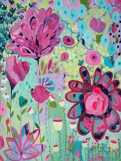 Let it Grow by Carrie Schmitt at www.carrieschmittdesign.com #mixedmedia #painting
