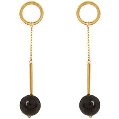 Marni Horn ball-drop earrings (3.118.690 IDR) ❤ liked on Polyvore featuring jewelry, earrings, ball earrings, marni jewelry, drop earrings, earrings jewelry and ball jewelry