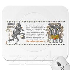 Metal Monkey zodiac born Leo 1980 Mousepad from Valxart.com   What chinese zodiac year and sign are you ? Valxart has many Zodiac designs including 12 zodiac, 12 zodiac cusp , 60 years of chinese zodiac , and 780 designs for 60 years of Chinese year zodiac combined with 12 zodiac designs with horoscope forecast . If you do not see product, year or zodiac sign desired, contact Valxart  info@valx.us for links.