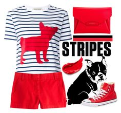 """""""One Direction: Striped Shirts"""" by sebi86 ❤ liked on Polyvore featuring Être Cécile, J.Crew, Converse, Estée Lauder, Givenchy and stripes"""