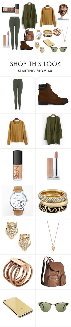 """Untitled #67"" by sandrapopescu on Polyvore featuring Miss Selfridge, Akira Black Label, NARS Cosmetics, Michael Kors, Kate Spade, Pamela Love, H&M, Goldgenie and Ray-Ban"