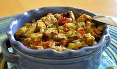 Welcome to Our Virtual Vegan Potluck & Ordinary Vegan Bread Stuffing with Tempeh Bacon, Mushrooms, Cranberries, Pistachios and Jalapeno
