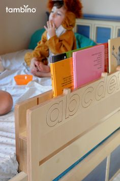 Great bed rails -- with book storage!