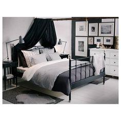 SVELVIK/LURÖY çift kişilik karyola, siyah, 160x200 cm | IKEA Türkiye