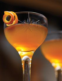 And To All A Good Night 1 1/2 oz. bourbon 3/4 oz. reposado tequila 3/4 oz. Cherry Heering 2 dashes Regans' orange bitters 1 dash Angostura bitters Garnish: orange twist (optional)