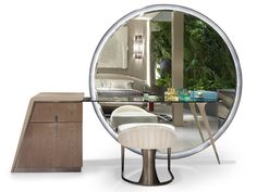 Solid wood dressing table WESTLEY By Visionnaire design Steve Leung Mirrored Bedroom Furniture, Room Furniture Design, Bedroom Bed Design, Bedroom Decor, Dressing Table Modern, Dressing Table Design, Dressing Table Vanity, Dinning Table, Interior Design