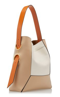 Nemo Color-Block Leather-Trimmed Canvas Shoulder Bag by Marni Luxury Handbags, Fashion Handbags, Tote Handbags, Purses And Handbags, Fashion Bags, Cheap Handbags, Cheap Purses, Cheap Bags, Fashion Purses