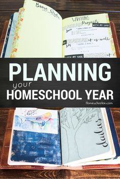 Homeschool Planning in a Travellers Notebook with pictures! Come see how I set up my homeschool planner and how you can make your own with simple listing, planning your morning basket, brave writer planning, homeschool looping and more! #homeschoolplanner #homeschoolplanning #homeschoollooping #morningbasket