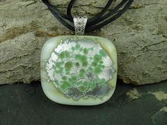 Handmade Jewelry.  Fused Glass Pendant. Fine by PLJohnsonGlassArt