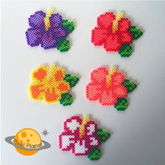 Perfect to decorate any room, place your favourite pop culture characters and items around the house, personalize your office space or offer a Pearler Bead Patterns, Perler Patterns, Pearler Beads, Loom Beading, Beading Patterns, Hamma Beads Ideas, Church Crafts, Perler Bead Art, Hibiscus Flowers