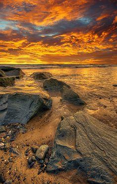 ~~Golden Hour ~ Tywyn, Cardigan Bay coast of southern Gwynedd, Wales by Howie Mudge~~