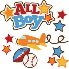 All Boy SVG boy svg file airplane svg baseball svg football svg cute clipart
