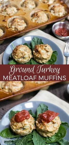 Ground Turkey Meatloaf Muffins for an Easy Dinner Cheesy ground turkey meatloaf muffins are sure to be a hit. The best part is that they come pre-portioned with no need for slicing! Lunch Recipes, Low Carb Recipes, Healthy Recipes, Dinner Recipes, Cheese Recipes, Easy Recipes, Kebabs, Ground Turkey Meatloaf, Ground Turkey Recipes Paleo