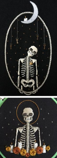 Skeleton Embroiderie