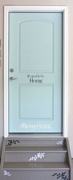 Cute idea for the garage door!