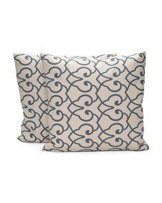 18x18 Two Pack Linen Print Pillow
