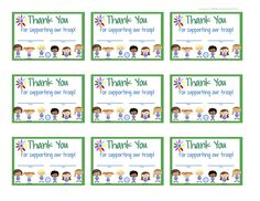 My Fashionable Designs: Girl Scouts - Daisies Thank You Cards