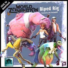 World Zombination Character Rig Postmortem >> Free Rig Download for Maya