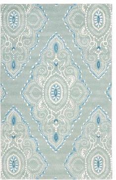 Wyndham Blue/Brown Area Rug WYD372A - 5' x 8' transitional-rugs