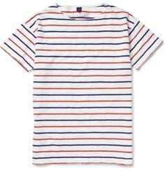 Borrow from the boys... Aubin & WillsRamlen Striped Cotton T-Shirt|MR PORTER