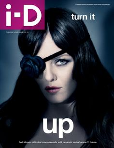 black rose eyepatch! vanessa paradis by paolo roversi i-d pre-spring 2011