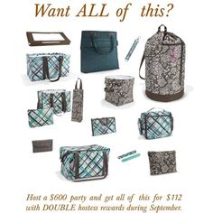 DOUBLE Hostess Rewards in SEPTEMBER!  Contact me to book your party!!