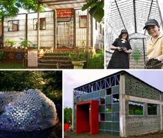 14 Building Made From Plastic Bottles :: includes homes, schools, exhibition halls...