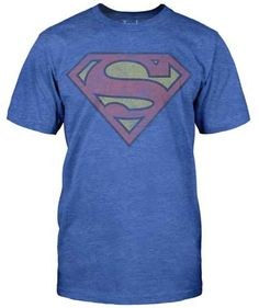 Lois Lanes favourite T-shirt. She loves wearing Superman's Heathered T-shirt with the Superman Vintage effect. Super soft comfortable t-shirt in heather, 50% cotton, 50% polyester. SMVtgeJOAT