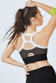 b24438d4daca8 Saturate your studio session with color in our high-support color block  sports bra