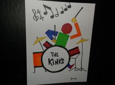 Drawing: Drummer by Rodster - marker on card stock- ebay -SOLD
