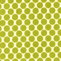 Manufacturer: Westminster / Free Spirit (AB13 Lime)  Designer: Amy Butler  Collection: Lotus  Print Name: Full Moon Polka Dot in Lime
