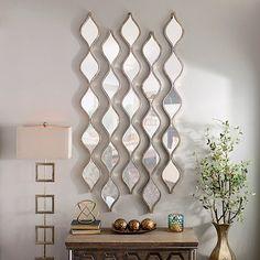 Single Silver Teardrop Panel Mirror, 6.25 x 58.75 | Kirklands
