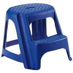 Curver Stupadlo plastové, 2 stupne, 40 cm, modré, nos. 150 kg Stool, Chair, Furniture, Home Decor, Decoration Home, Room Decor, Home Furnishings, Home Interior Design, Chairs