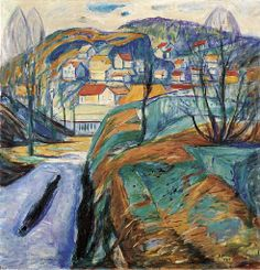 Edvard Munch / Frühling in Kragerø / 1921 / oil on canvas