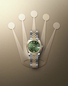 he Oyster Perpetual Datejust 31 in a yellow Rolesor version, combining Oystersteel and yellow gold, pairs an olive green dial with Rolex Watches For Men, Luxury Watches For Men, Cool Watches, Men's Watches, Montres Hugo Boss, Rolex Blue, Mens Designer Watches, Oyster Perpetual Datejust, Hand Watch