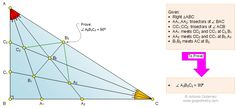 Honors Geometry Problem Triangle 1116, Right Triangle, Angle Trisection, 90 Degrees, Perpendicular Lines