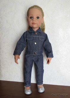 Мастер-класс по пошиву джинсовой курточки для куклы - http://babiki.ru/blog/master/41408.html