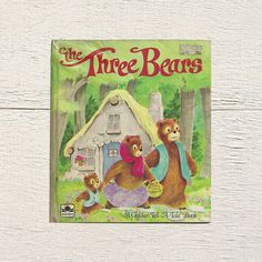 New in The Book Cottage: The Three Bears | A Golden Tell A Tale Book Featuring Goldilocks | 1960s Vintage Book for Kids Library | Kids Fairy Tale Bookshelf Title by TheBookCottage